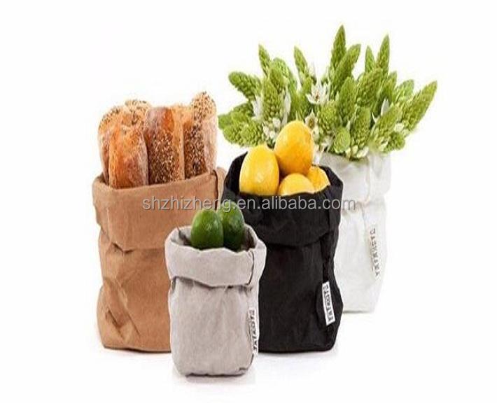 Cesta organizador almacenamiento bolsa reutilizable lavable Papel kraft para frutas vegetales alimentos pan flor <span class=keywords><strong>papelería</strong></span>