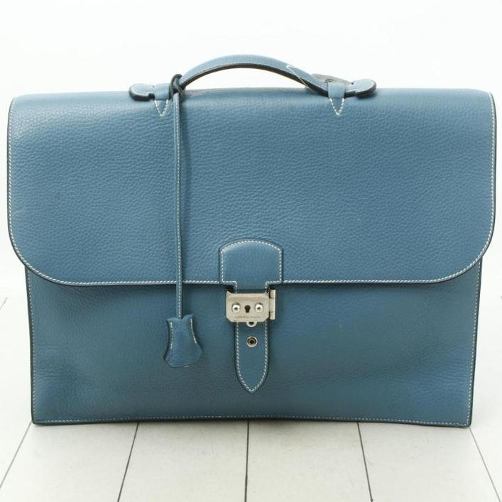 Pre-Owned HERMES Sac a Depeche Leather Brief Case Bag For Wholesale / MANY OTHER FAMOUS BRANDS AVAILABLE from Japan