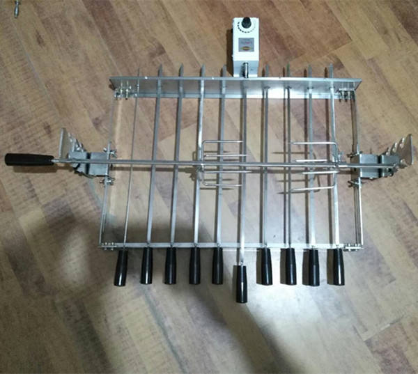 BBQ Grill Top Rotisserie Kebab Skewers battery operated bbq grill