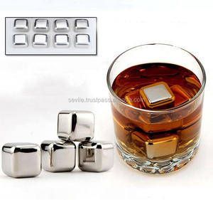 Bar Accessories Recyclable Stainless Steel Whiskey Ice Cube Stones , Beer Chiller Cube