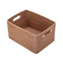 hot trend rattan basket/ Rattan weaving paper rope material large cane Storage Basket 100% handmade Cheap wholesale