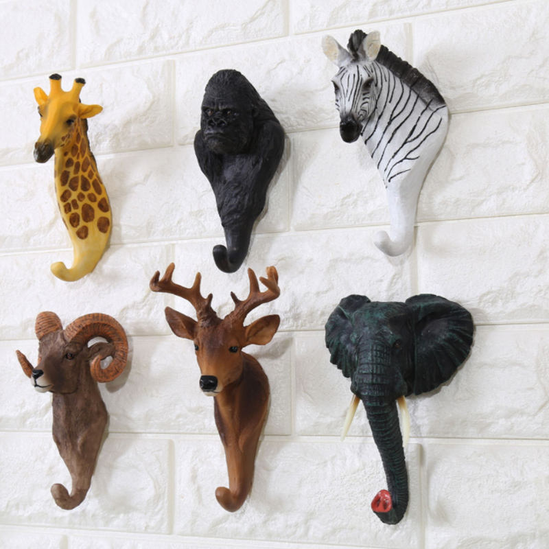 China Factory Animal Coat Rack Wall Clothes Hanging Hooks Home Decoration Wall Hanger Hook For Sale
