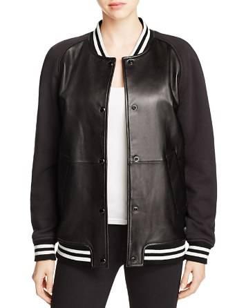 원래 굉장히 그레이 대표팀 폭격기 사용자 대표팀 레터맨 재킷 모직 가죽 재킷