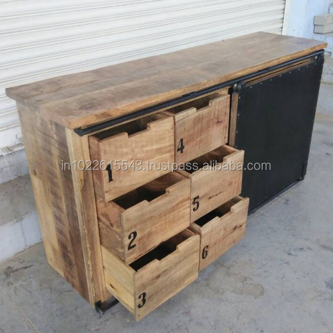 Antique Reclaimed Wood Chest of Drawer ,Vintage Reclaimed Wood Furniture
