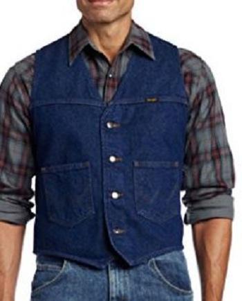 Azul marinho homens colete jaqueta jeans com quatro botões amarelos