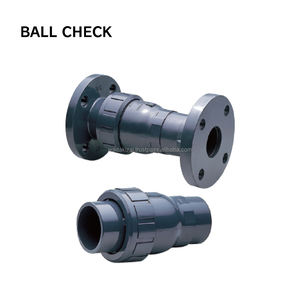 Plastic ball check , Body UPVC , asahi valve brand in Japan