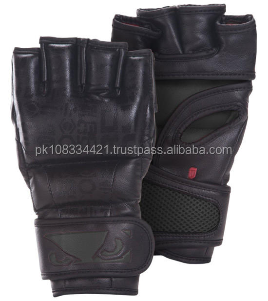 Custom High Quality Grappling Gloves/MMA gloves cowhide leather