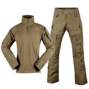 Camouflage Military Tactical Combat Long Sleeves Shirts and Pants G3 Frog Suit Ripstop