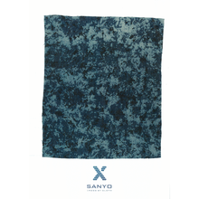 Textile Fabric by Indigo Gradation Discharge Printing
