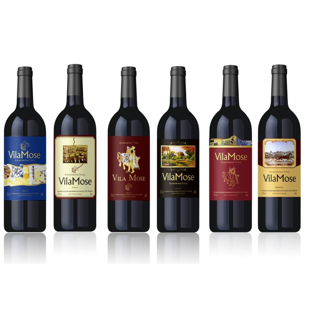 Vila Mose Spanish Red Wine with 12% (from 0,88 eur/bottle) OEM WINE FREE