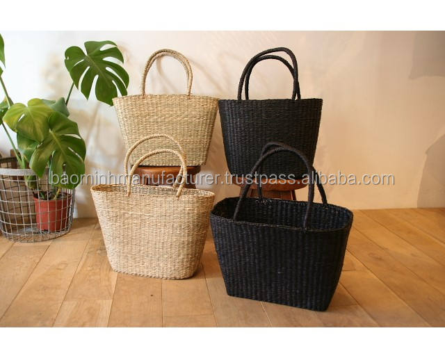 Wholesale natural seagrass bag, handmade in Vietnam