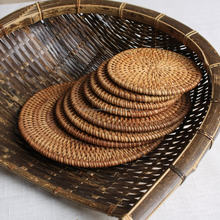 All Size Round Rattan Serving Coaster/Place Mats/ cup coaster for drink