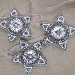 unique design Christmas home decorative hanging star beaded