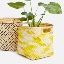 Latest design bamboo basket Vietnam/ Elegant bamboo fruit basket picnic cheap wholesale