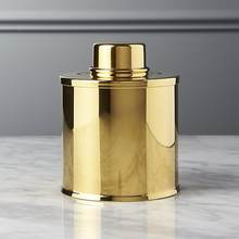 Brass Tea Caddy | Mirror Polished Brass Metal Tea Caddy | Small Tea Canister
