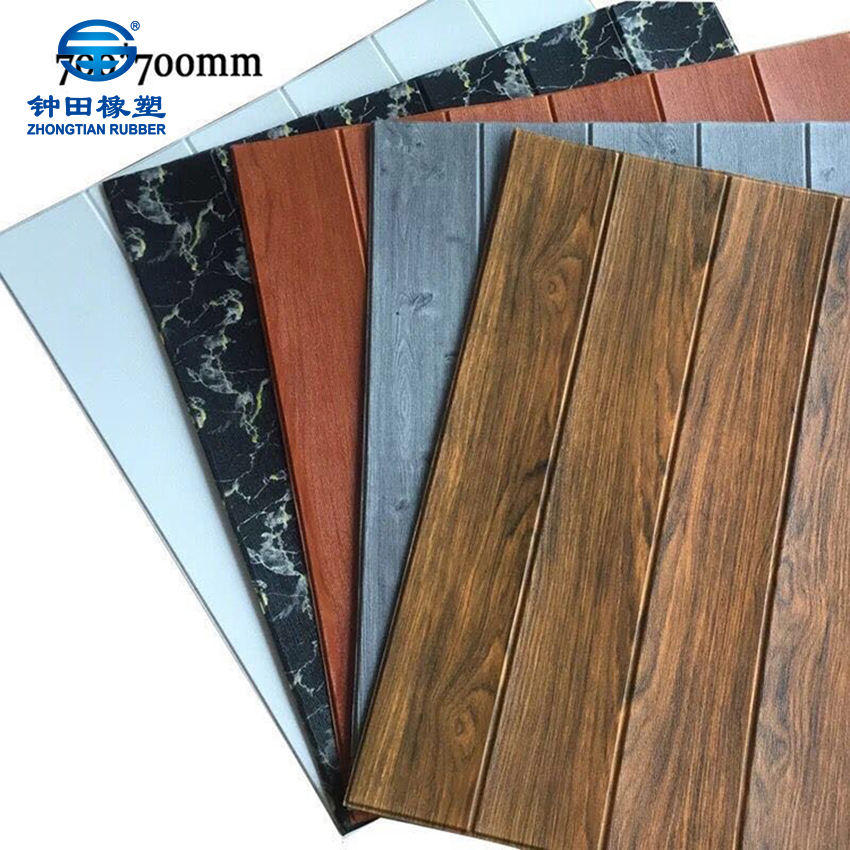 Wood wall paper/Self adhesive Foam Wallpapers/3D PE Foam Wall paper