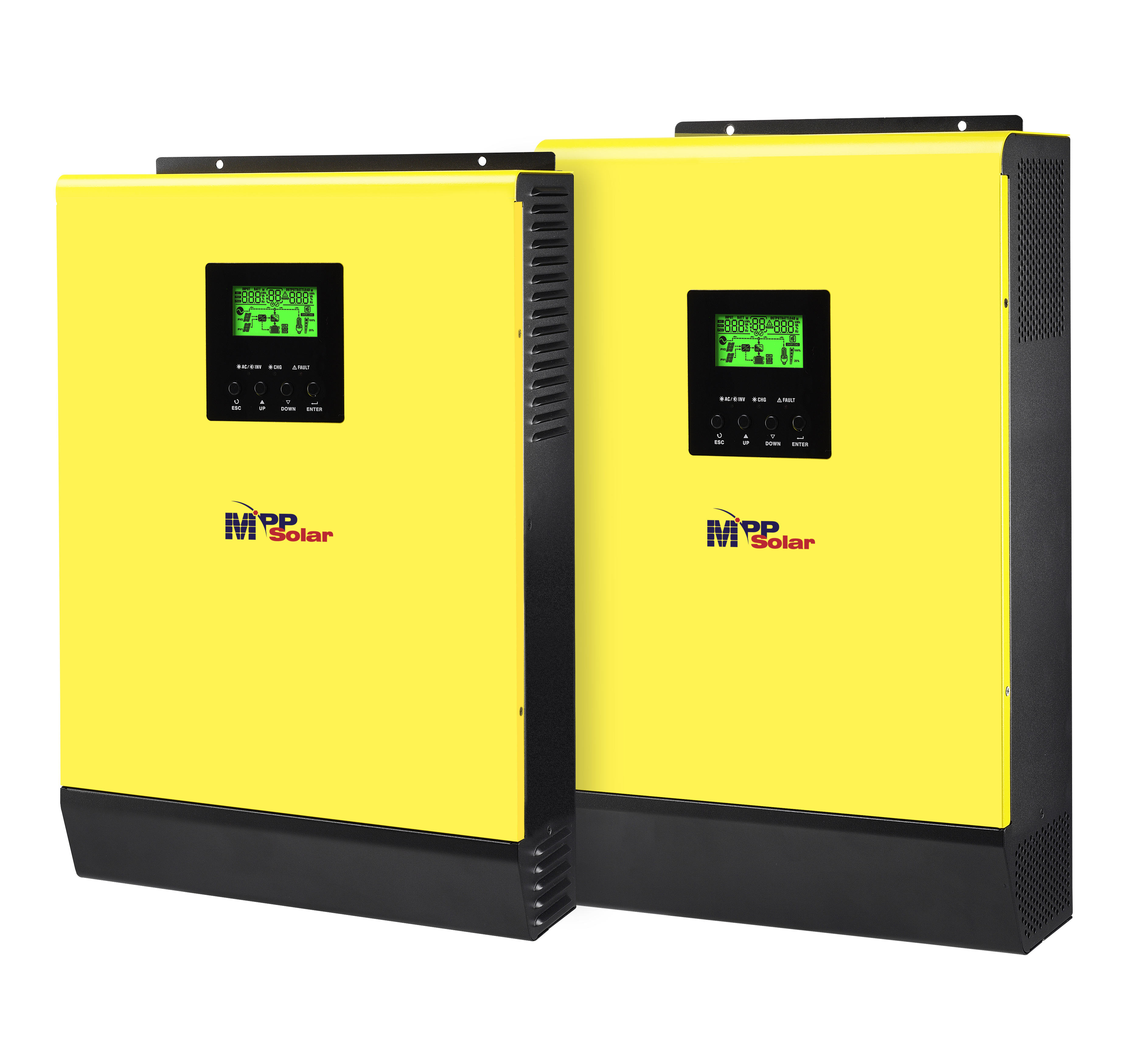 Hybrid Solar inverter 3000w 48v 230vac high PV input 450Vdc 60A mppt solar charger 60A battery charger grid tied inverter