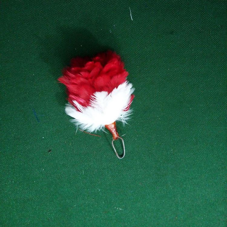 "Highland Glengarry Gorro pluma Hackle Color Naranja 6/""//Balmoral Cap /& Sombreros Hackle"