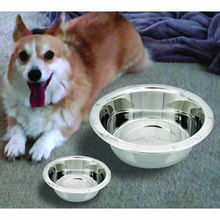 OEM color printed rubber bottom Metal pet water Feeder Stainless Steel Dog Bowl