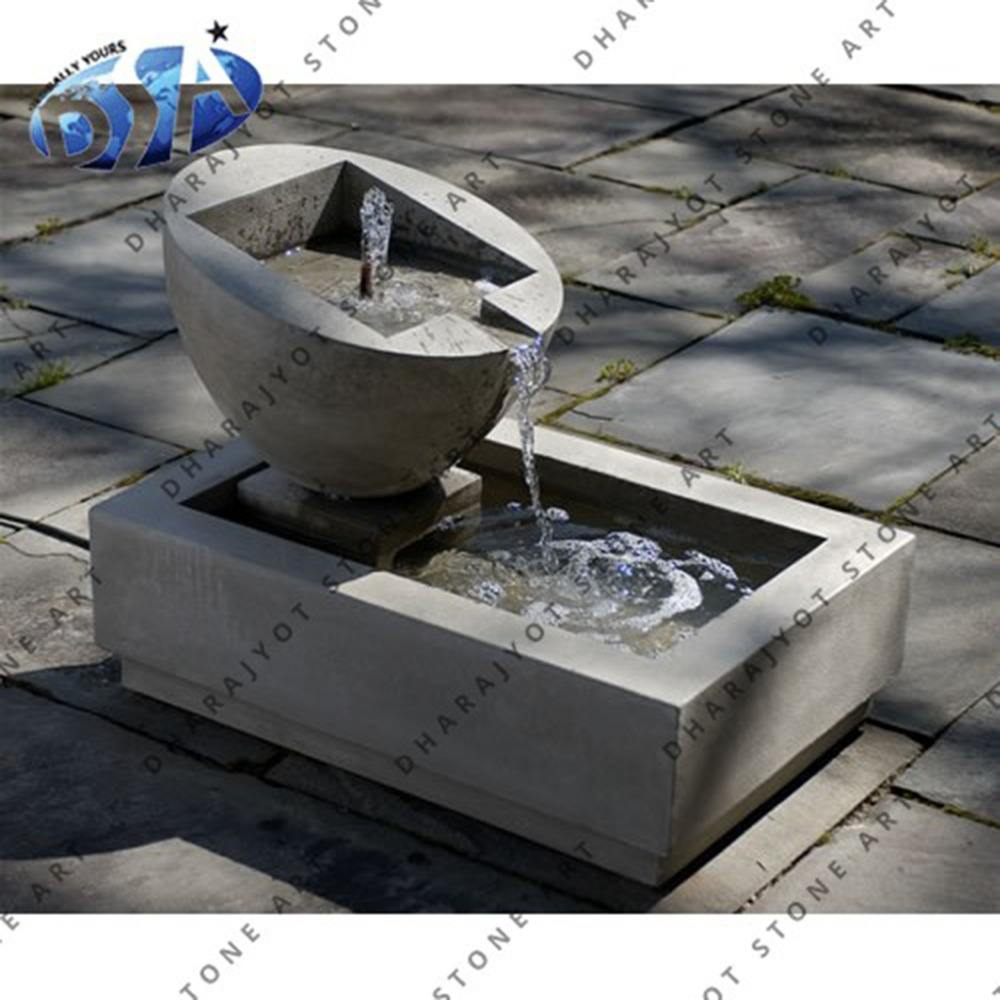 indian popular grey sandstone patio water features unique design