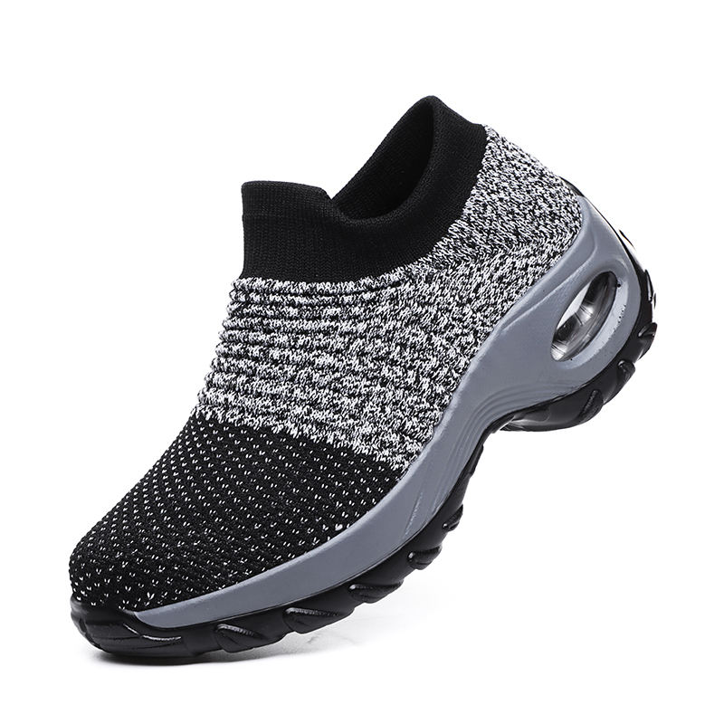 New design high fashion cheap durable athletic shoe air cushion sole sock casual sport athletic shoes
