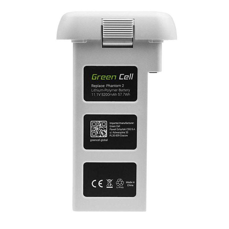 Green Cell Battery for DJI Phantom 2, Phantom 2 Vision+ (Li-Polymer High Performance 5200mAh 57.7Wh 11.1V White)