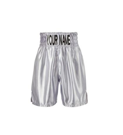 Männer Top Zehn Silber Boxing Trunks/Kick Boxing Shorts