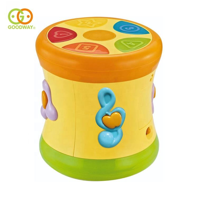 two-sided dynamic rolling infant baby musical hand beat drum toy