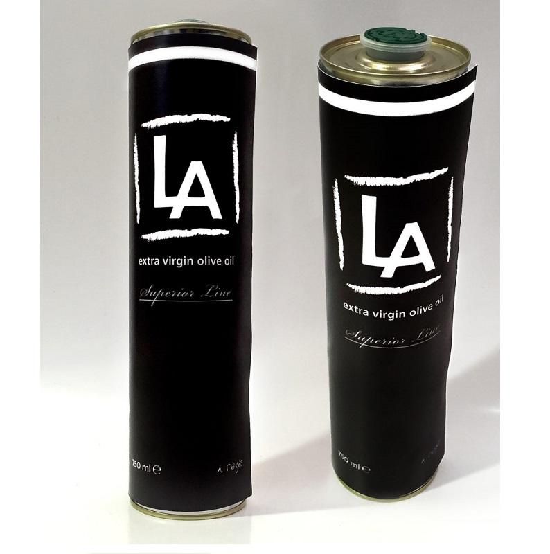 LA - Premium Quality 100% Pure Extra Virgin Olive Oil from Greece - Cold Processed - 750ml Metal Bottle Packaging