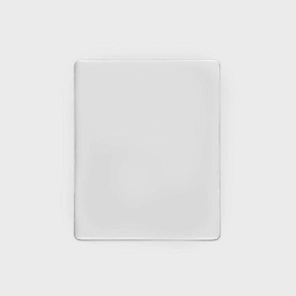 TECHNICAL PORCELAIN RECTANGULAR BLANK PLAQUE FOR THE PHOTOCERAMIC INDUSTRY