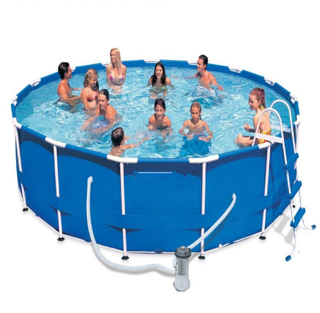 above ground portable metal round steel frame swimming pool