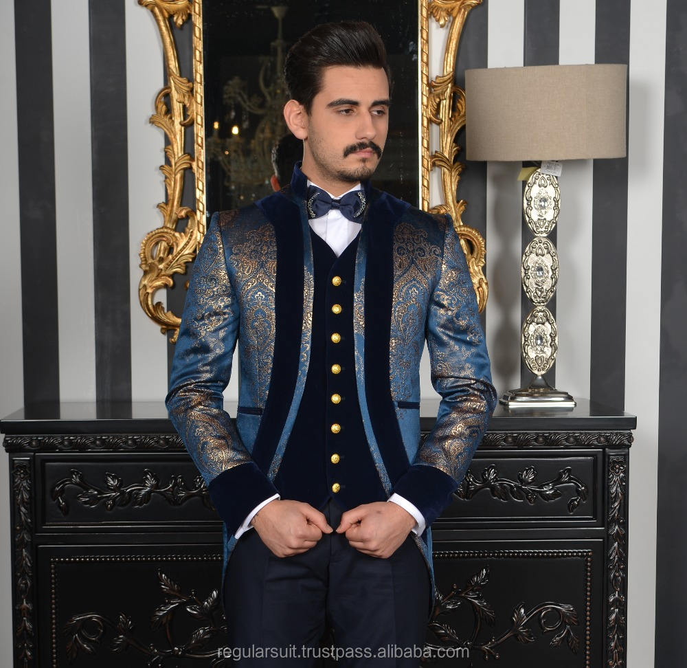 Custom Made Blue High Quality Wedding Men Suit