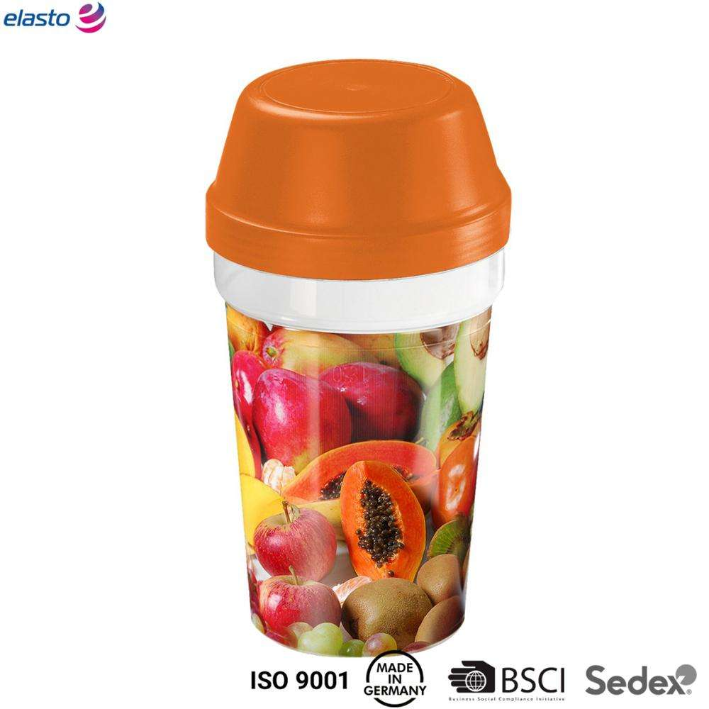 Promotional Shaker 350ml MADE IN GERMANY PP Plastic Shaker Bottle BPA-Free LFGB Coffee To Go BSCI Sedex Factory with Audits