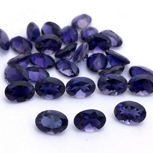 4x6mm Natural Iolite Facetada Oval Cut Loose Pedras Preciosas