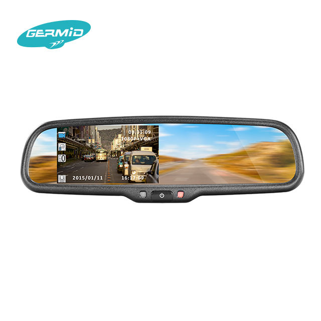 4.3 inch TFT rearview mirror backup camera display with ultra brightness monitor and replacement holder/bracket