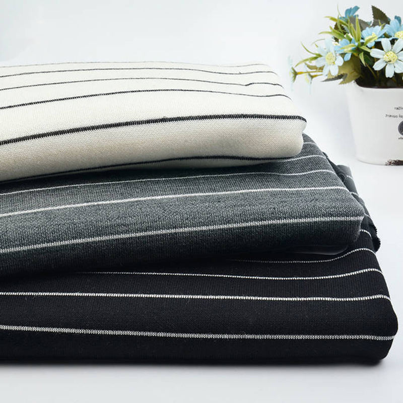 Factory wholesale quality stocklot knit stripe yarn dyed fabric