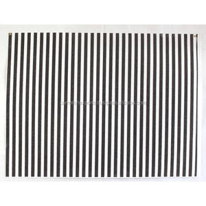 Fashion handmade recycled black glitter printed stripes white color cotton paper sheet