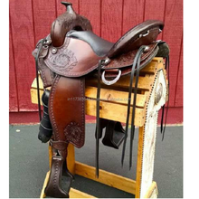 Handmade Indian 100% Leather Horse  Western Saddle
