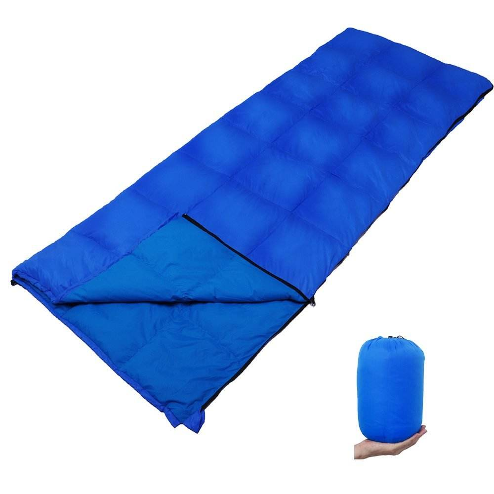 Zestlot Navy Blue light weight camping down sleeping bag