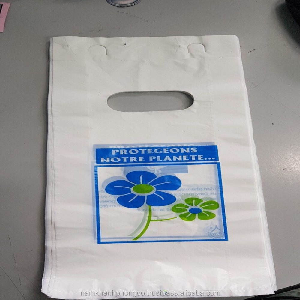 Block head Die cut plastic bag