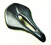 OEM  power saddle  Ture Genuine leather carbon fiber shell rail  252 165 mm width hollow bicycle saddle