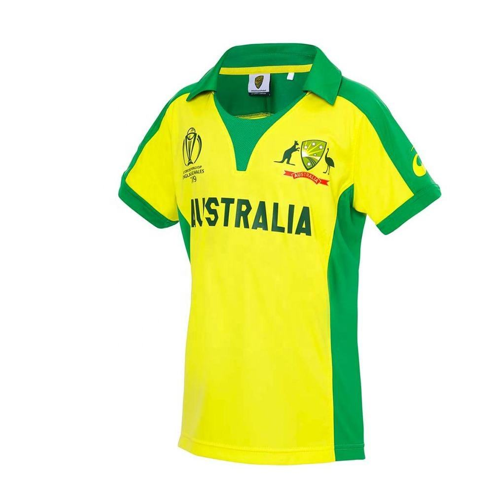 Sublimated 2019 World Cup Australian Cricket Jersey