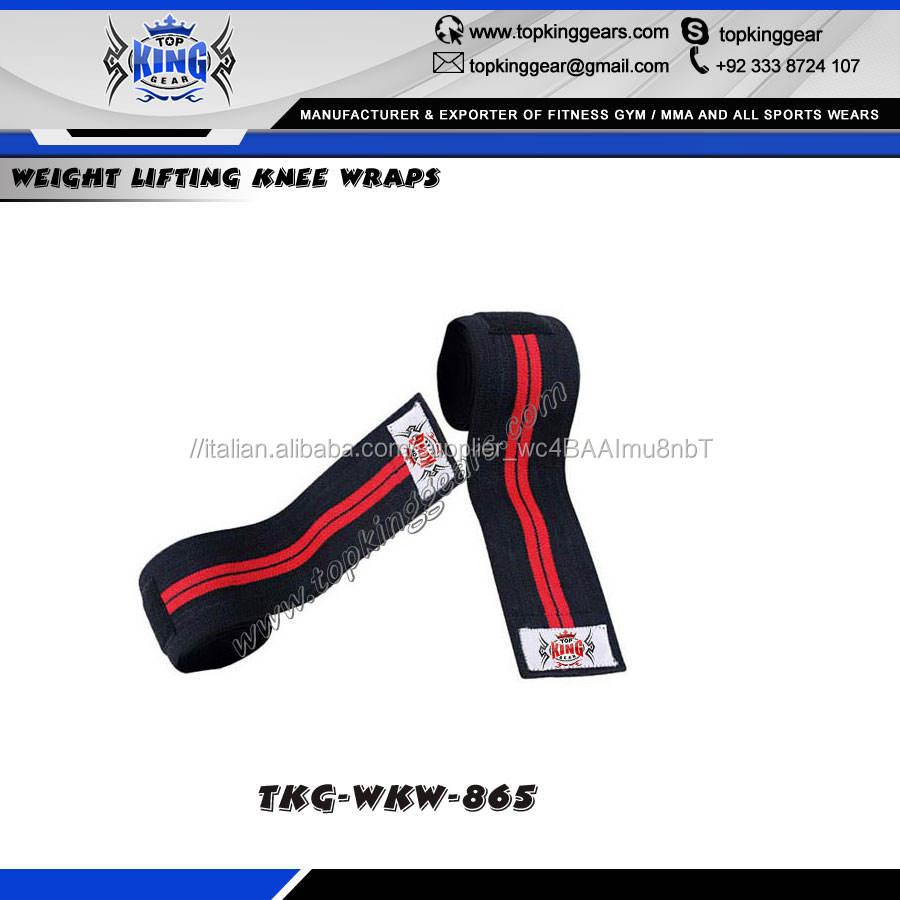 Alta Qualità Heavy-Duty Pesi Ginocchio Avvolge/Velcro Ginocchio Wrap