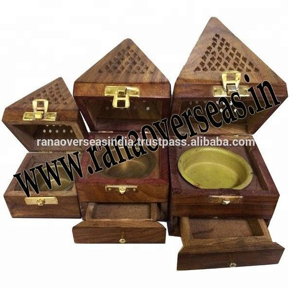 Sheesham Wood Incense Cone Burners.Incense Burner Boxes