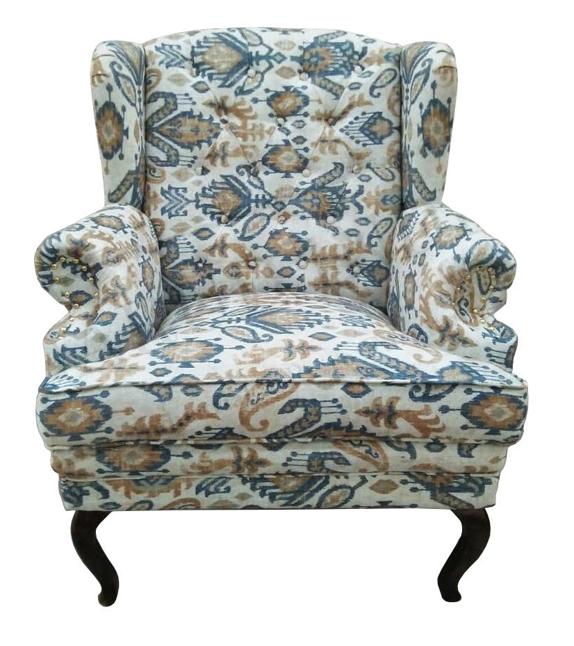 French Style Wingback Chair Wing Lounge Sofa