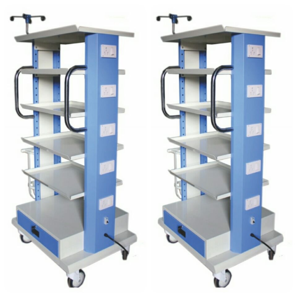 Mentok Modular Monitor Trolley, Hospital Patient Trolley For Hospital Use
