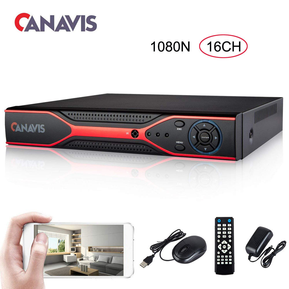 16 channel dvr H.264 1080N 16ch cctv 5-in-1 digital video Recorder support ahd cvi tvi cvbs analog IP security camera XMEYE APP