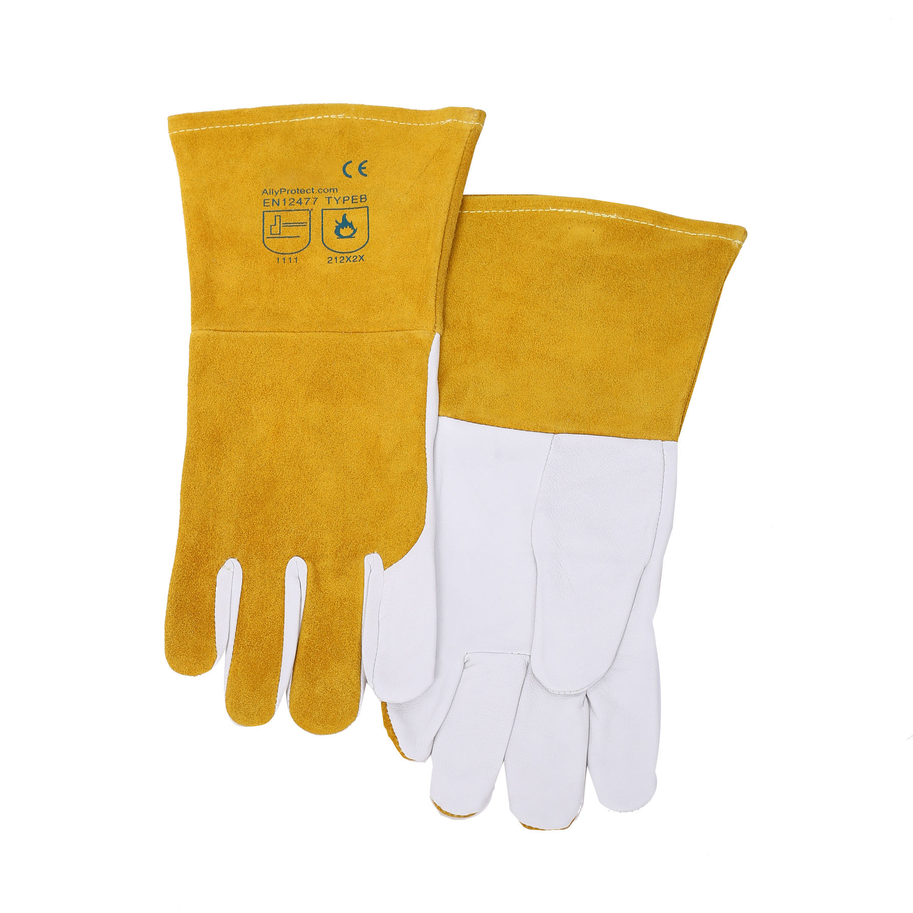 High-quality Standard standard cow split leather tig electric Welding Gloves for safety
