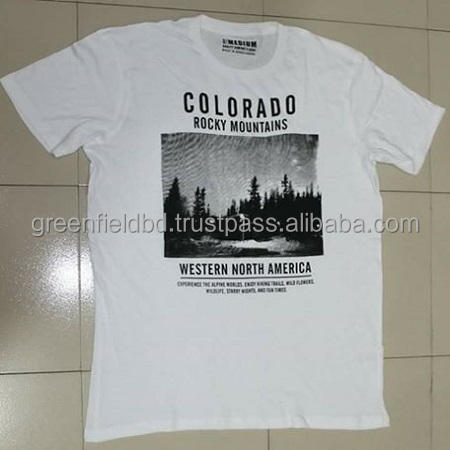 new arrival wholesale mens short sleeve printed t shirt