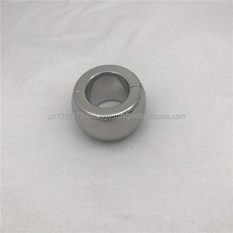 Magnetic Stainless Steel Ball Stretcher Man Enhancer Chastity Ring Heavy Duty